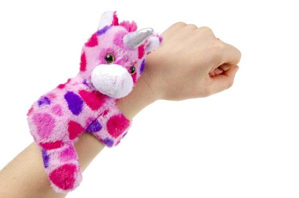 eenhoorn klaparmband knuffel uitdeelspeelgoed